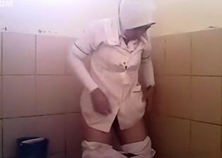 Hidden camera in public toilet