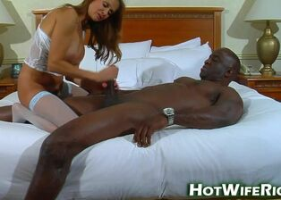 Ebony wife creampie